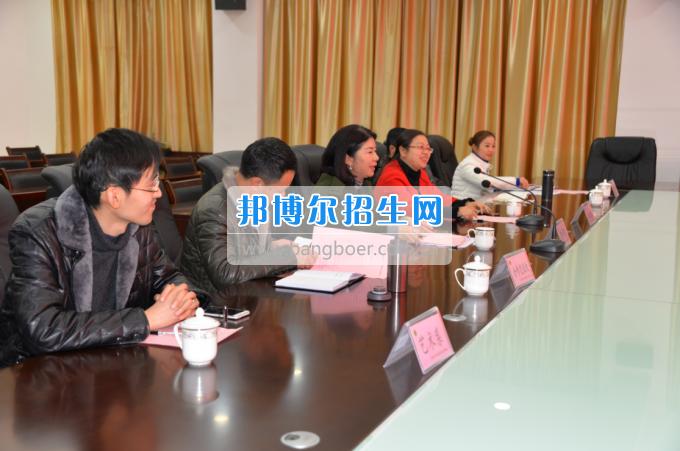 自贡市旅游职业高级中学到川南幼儿师范高等专科学校考察
