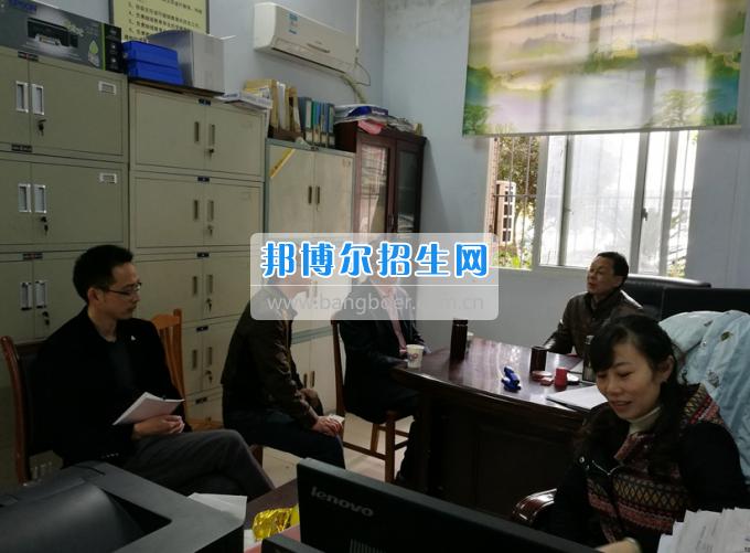 四川省营山职业高级中学光临南充师范学校交流学习