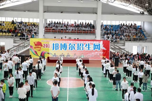 成都中医药大学附院针灸学校龙泉校区举行2017年新团员入团宣誓仪式